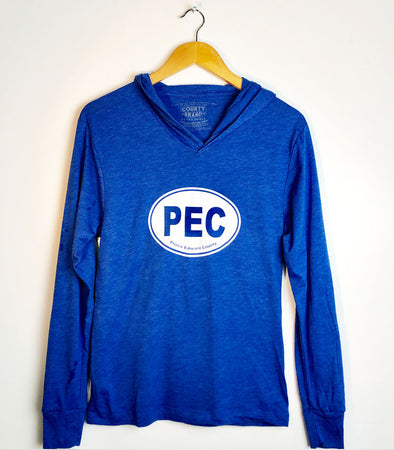 Unisex Modern Lightweight Vintage Royal Pullover Hoodie • Prince Edward County • PEC Oval