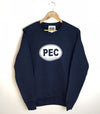 PEC Oval Unisex Fleece Crew Sweatshirt Sweater • Navy Blue • Prince Edward County