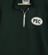 Premium Unisex Quarter Zip Fleece Sweatshirt w/ PEC Oval design on Navy or Green Prince Edward County