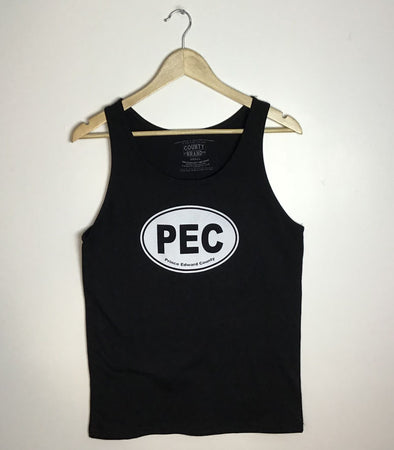 PEC OVAL • Unisex Modern Tank Top • Black