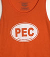 PEC Oval • Modern Unisex Tank Top • Orange • Prince Edward County