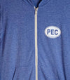 PEC FULL ZIP LIGHTWEIGHT HOODIE • LIGHT BLUE Unisex Premium Tri-blend • Prince Edward County