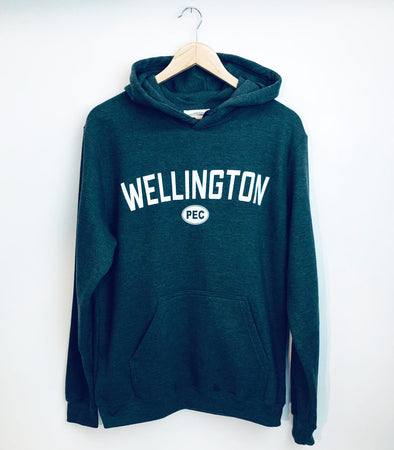 WELLINGTON CHARCOAL HEATHER Unisex Hoodie Pullover Sweatshirt • Prince Edward County PEC