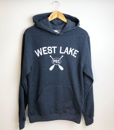 WEST LAKE NAVY HEATHER Unisex HOODIE SWEATSHIRT • PEC Prince Edward County • Made in Canada