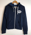 Women's • Navy Blue Full Zip Bamboo Organic Cotton Hoodie Sweatshirt • PEC Oval Prince Edward County