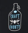 CRAFT BEER COUNTY • Prince Edward County PEC • Women's Modern Black Crew T-shirt