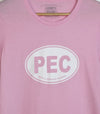 PEC OVAL • Prince Edward County • Women's Light Pink Modern Crew T-Shirt