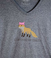 COUNTY FOXES FOR EQUALITY • PEC • Women's Graphite Heather Modern V-Neck Tri-Blend T-Shirt