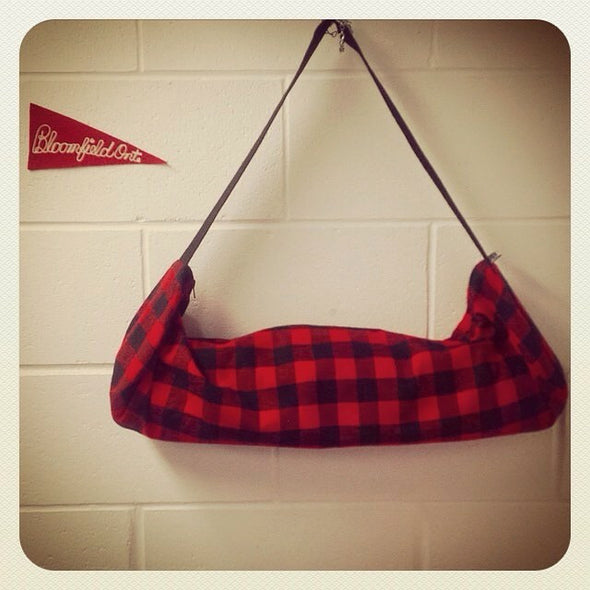 Yoga Mat Carry Bag Lumberjack Red Plaid