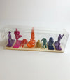 Yoga Joes RAINBOW Army Men Plastic Figurine Set • Keep the Inner Peace