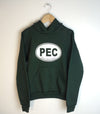 PEC OVAL • YOUTH Forest GREEN HOODIE Pullover Sweatshirt Prince Edward County