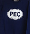 PEC OVAL • KIDS & YOUTH Navy Blue CREW Sweatshirt Fleece Sweater • Prince Edward County
