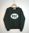 PEC OVAL • YOUTH Forest GREEN Fleece CREW Sweatshirt • Prince Edward County