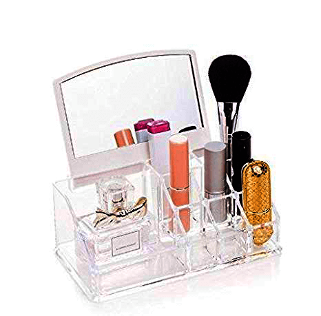 Organizator cosmetic cu oglinda-Mirror Make-up rack