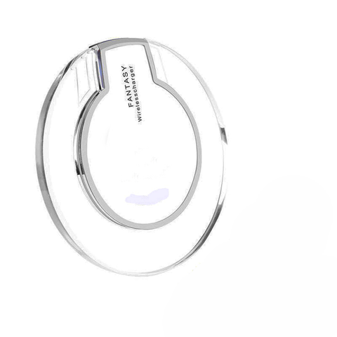 Incarcator wireless cu LED, micro USB, Alb-Fantasy wireless charger