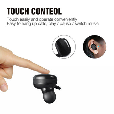 Casti Bluetooth Wireless , Bluetooth 5.0, Audio In-Ear, Handsfree, Compatibile Android & iOS