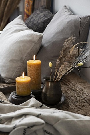 Candles, Cushions and Throws
