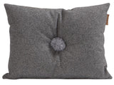 Grey Anita Button Cushion