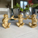 Gold Monkey Ornaments (Set of 3)