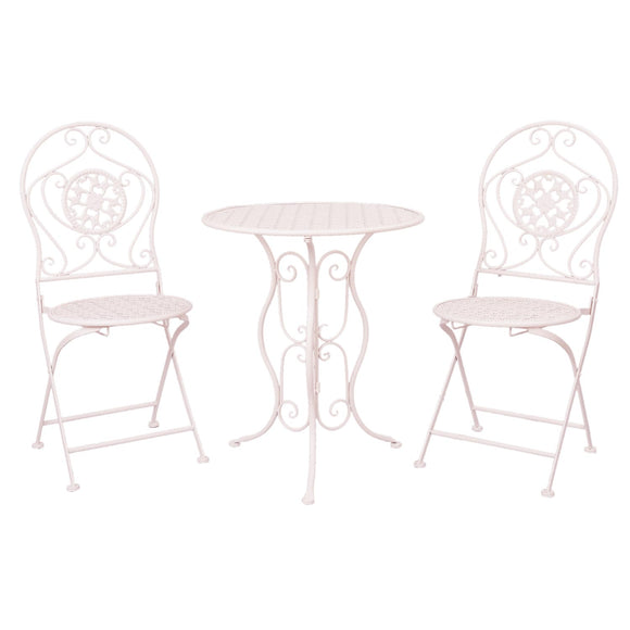 Vintage White Garden Bistro Set (3 pieces)