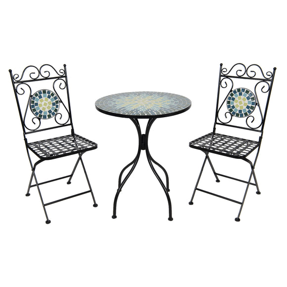 Multi-Colour Vintage Garden Bistro Set (3 pieces)