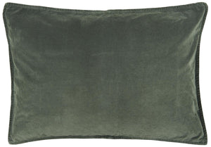 Warm Green Velvet Cushion