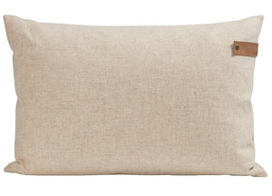 Ivory Tina Linen Rectangle Cushion