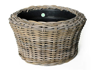 Outdoor Rattan Wicker Basket Planter
