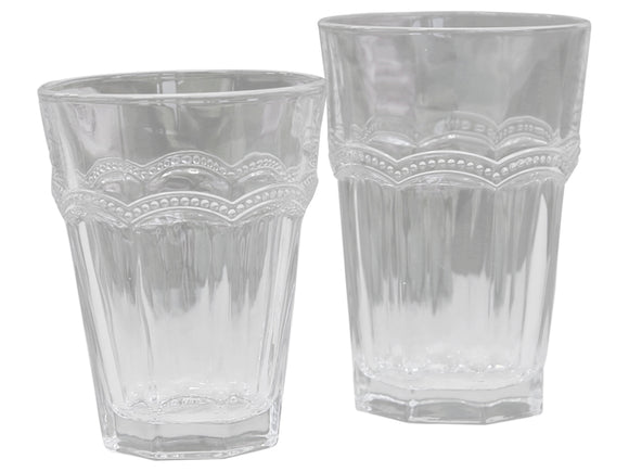 Antoinette Drinking Glass with Pearl Edge (Set of 4)