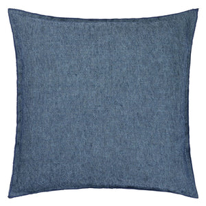 Denim and Blue Linen Cushion