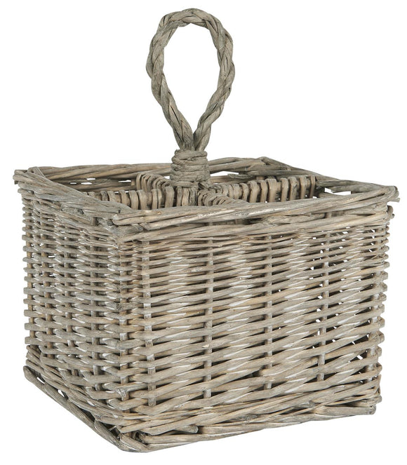 4 Compartment Basket with Handle