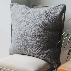 Charcoal Grey Pillow Sham Cover