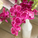 Faux Fuchsia Orchid Spray