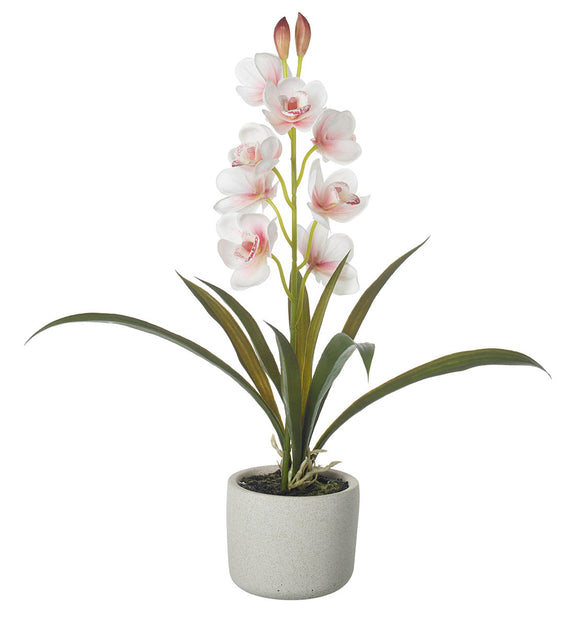 Faux Orchid Potted Plant