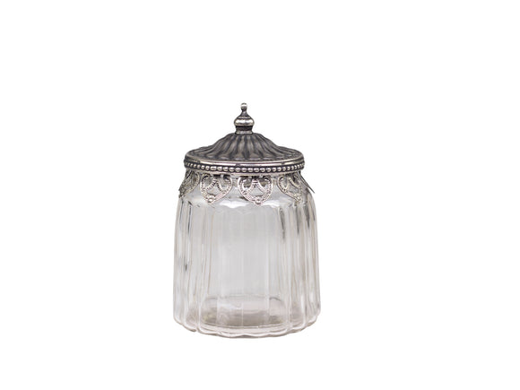 Decor Jar with Edge & Lid