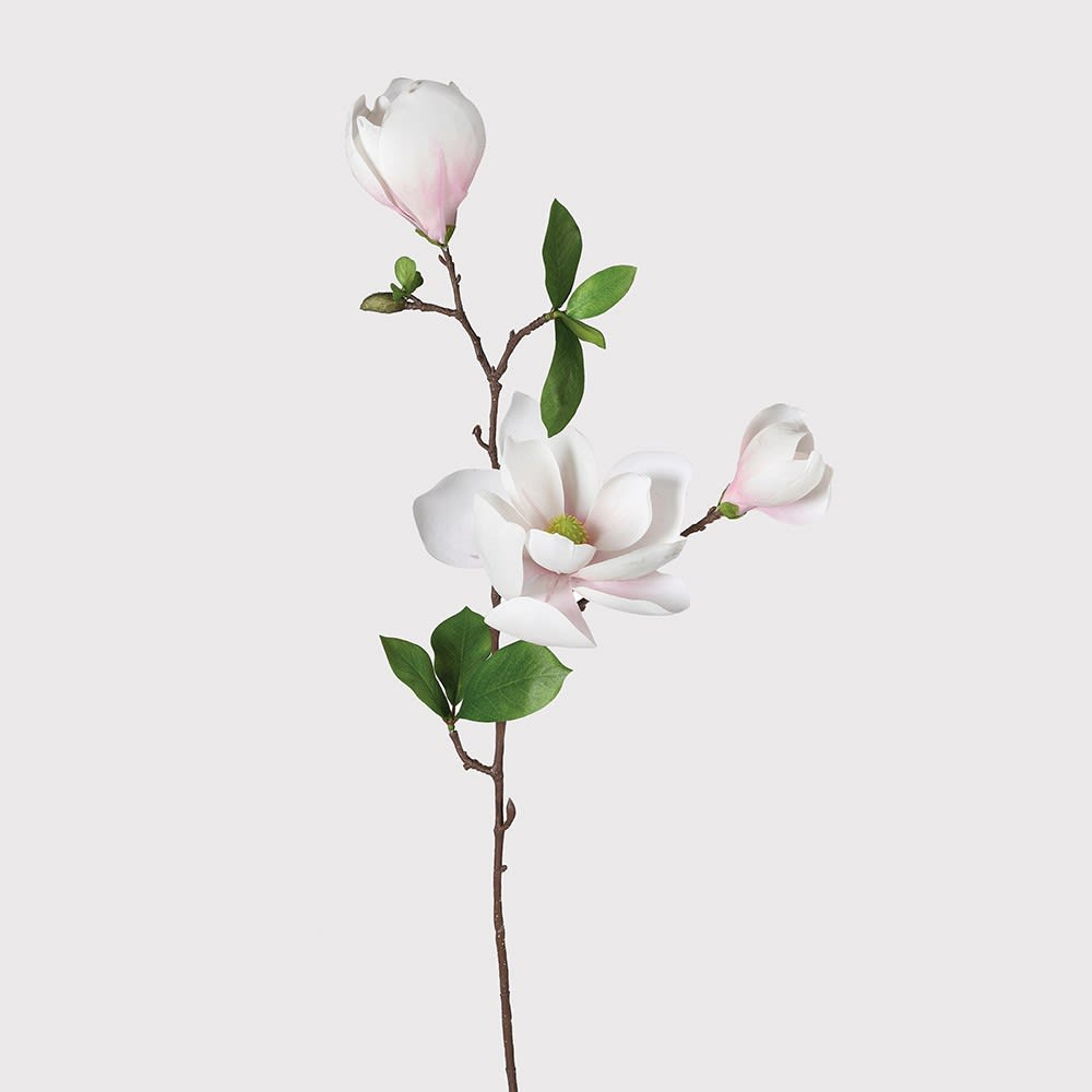 Faux Baby Pink Magnolia Stem x2