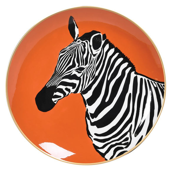 Lone Zebra Decorative Plate
