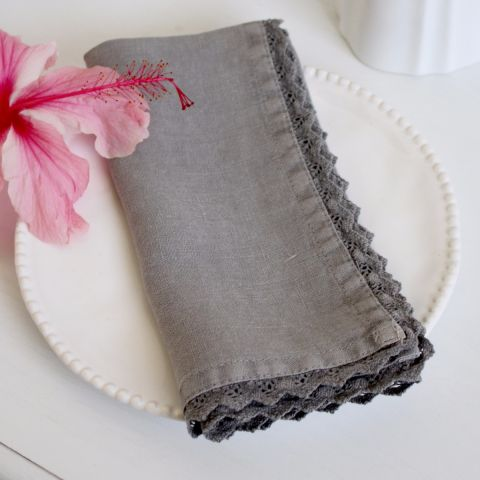 Set of 4 Marina Grey Napkin
