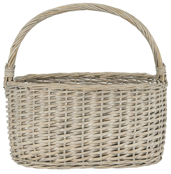 Oval Basket with Handle (Oblong)
