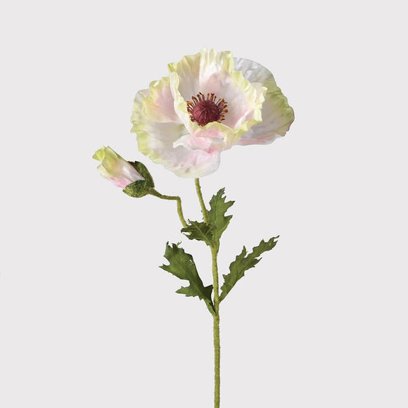 Faux Pale Pink Poppy Spray