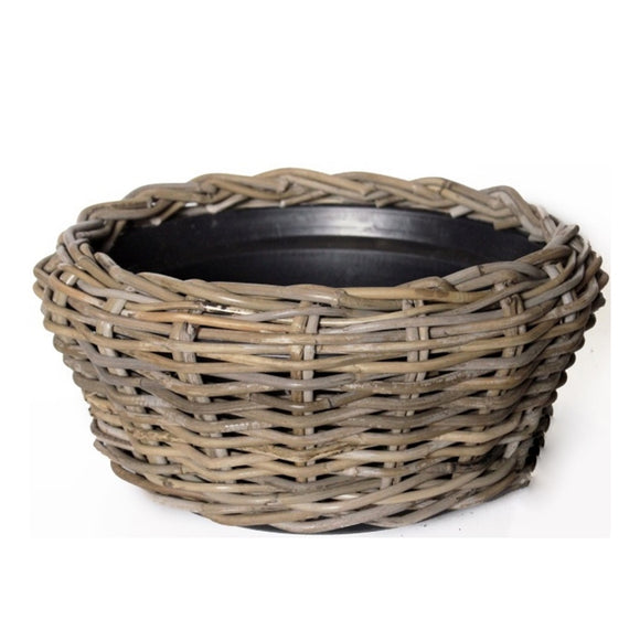 Rattan Wicker Bowl Planter
