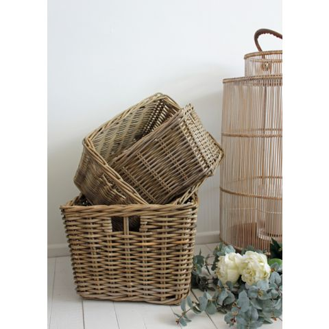 Rectangle Kubu Baskets (Set of 3)