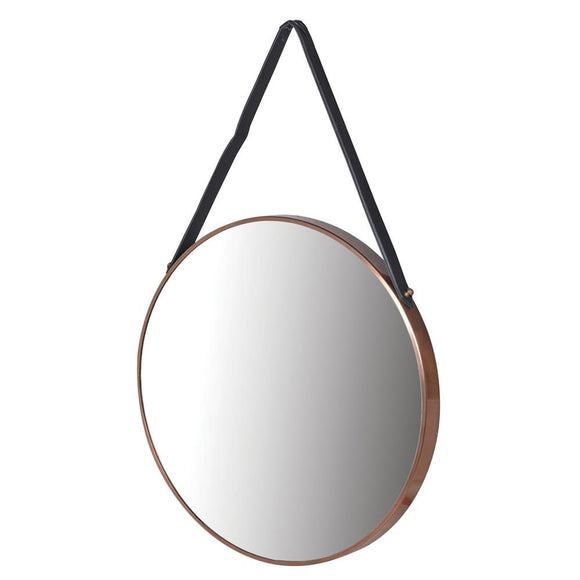 Large Round Copper Hanging Mirror