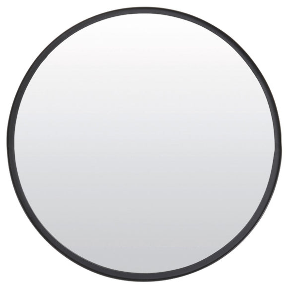 Round Matt Black Wall Mirror