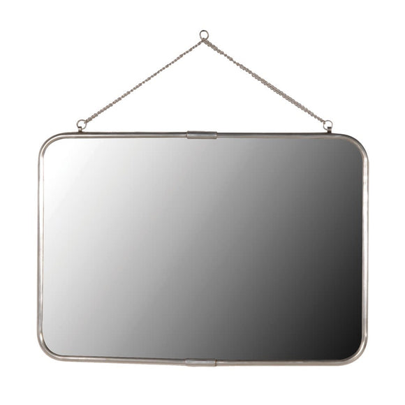 'Antiqued Silver' Rectangular Wall Mirror