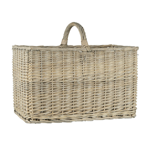Basket  with Handle and Straight Sides