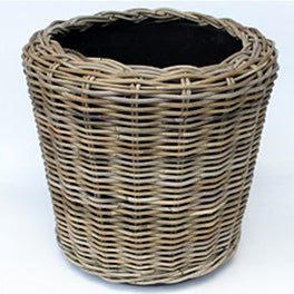 Tall Rattan Wicker Basket Planter (Large)