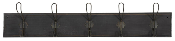 Wall Rack with 5 Hooks