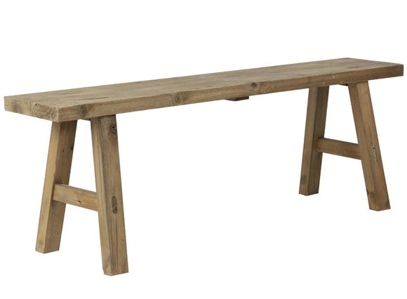 Safane Natural Wood Bench