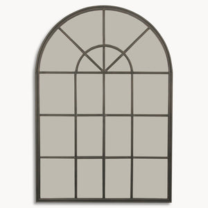 Windowpane Arched Wall Mirror